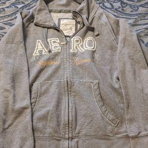 EUC! AERO Gray Zip up Sweatshirt
